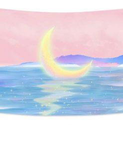 Wandbehang Mond im Meer